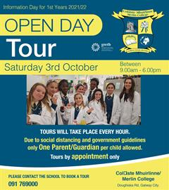 Open Day 3rd October 2020